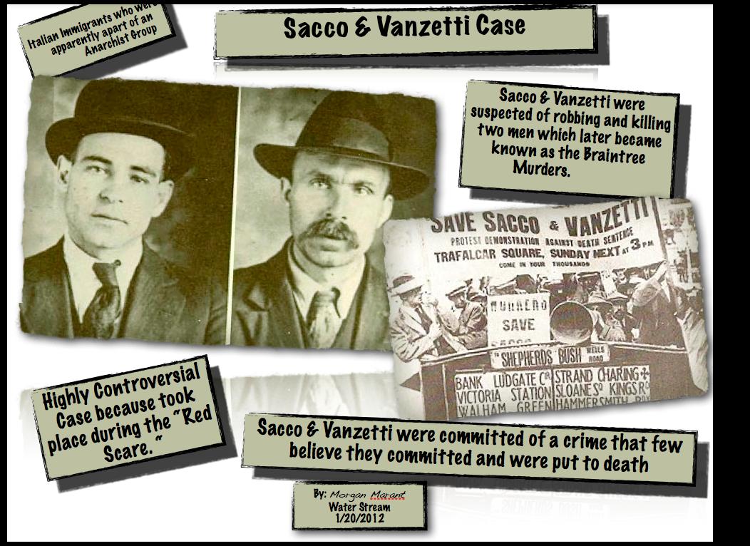 Sacco and vanzetti summary essay