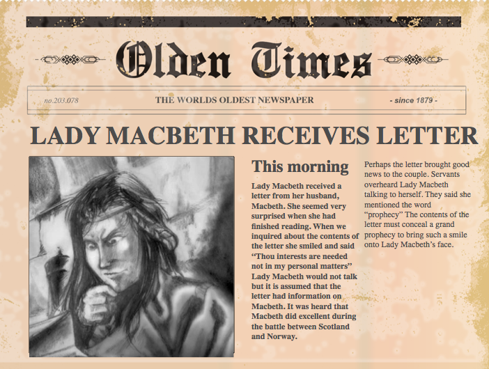 macbeth dying publication article