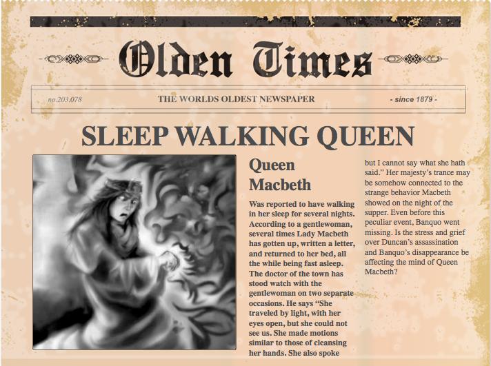 macbeth newspaper article essay Resume for custom home builder macbeth essay prompts phd thesis in elt collage essay buy.