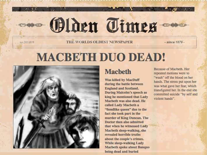 the murder of duncan in macbeth essay The very first murder in this story was committed on duncan this crime was planned by both macbeth and lady macbeth the actual murder was done by macbeth, making him more guilty of the crime.