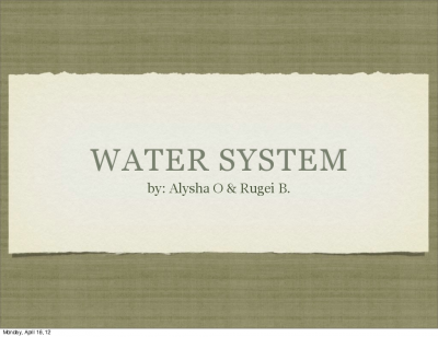 Physics watersystem