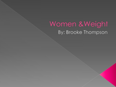 Women &Weight