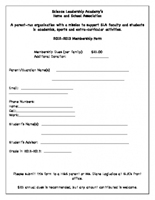 2012-13 HomeandSchool membership form