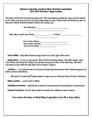 2012-13 volunteer form