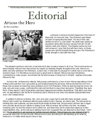 to kill a mockingbird newspaper article To kill a mockingbird newspaper article disclaimer: this essay has been  submitted by a student this is not an example of the work written by our  professional.