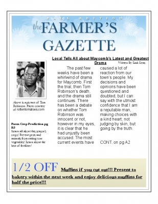 Farmer's Gazette Link Deas TKAM Editorial