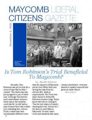 Tom robinson trial newspaper article