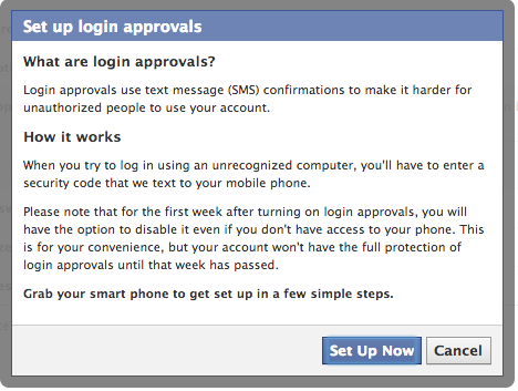 set up login approvals