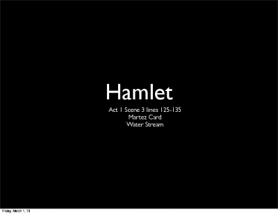 English Hamlet Keynote