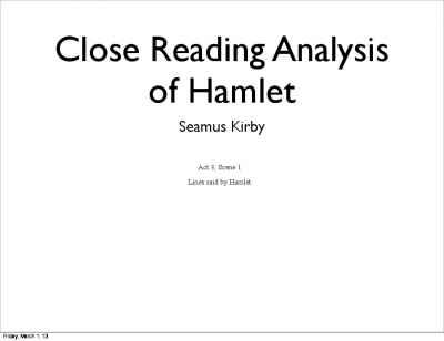 different interpretations why hamlet was hesitant to avenge his fathers death