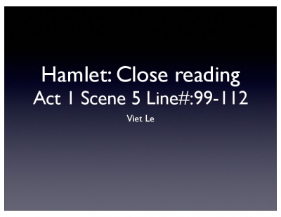 Hamlet Analysis.key