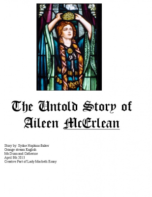 The Untold Story of Aileen McErlean (Lady Macbeth Essay)