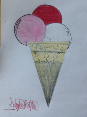 ice cream color pencil
