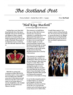 Macbeth Newspaper