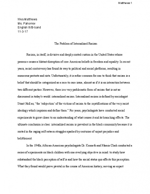 Essay racism today paper qualitative research