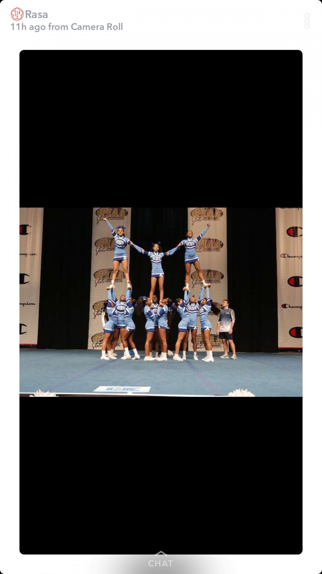 This was our cheerleading competition for States in Hershey, Pennsylvania.
