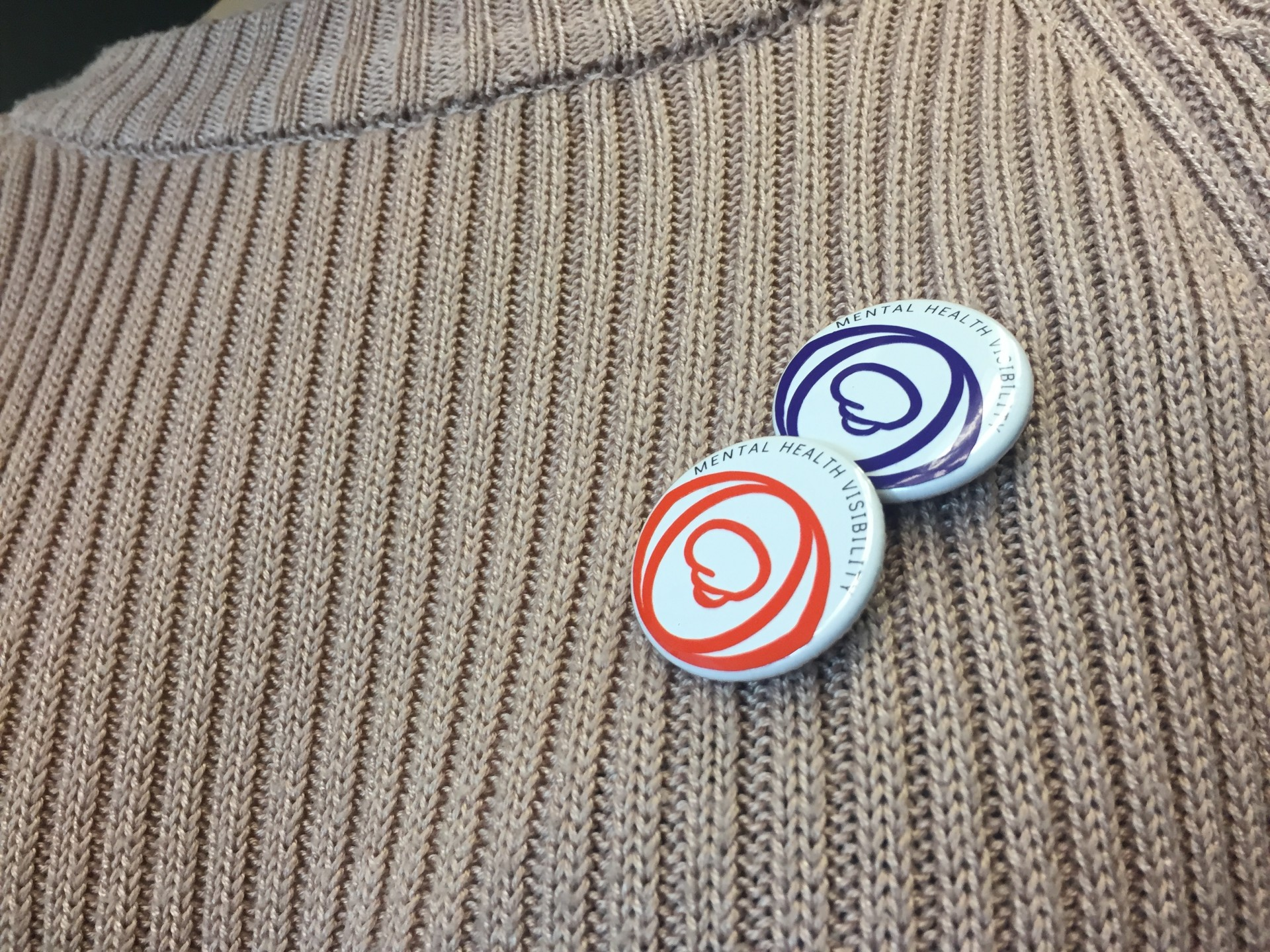 Pins for Anxiety Disorders (orange) and Obsessive-Compulsive and Related Disorders (purple)