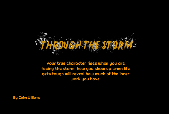 Through The Storm Logo