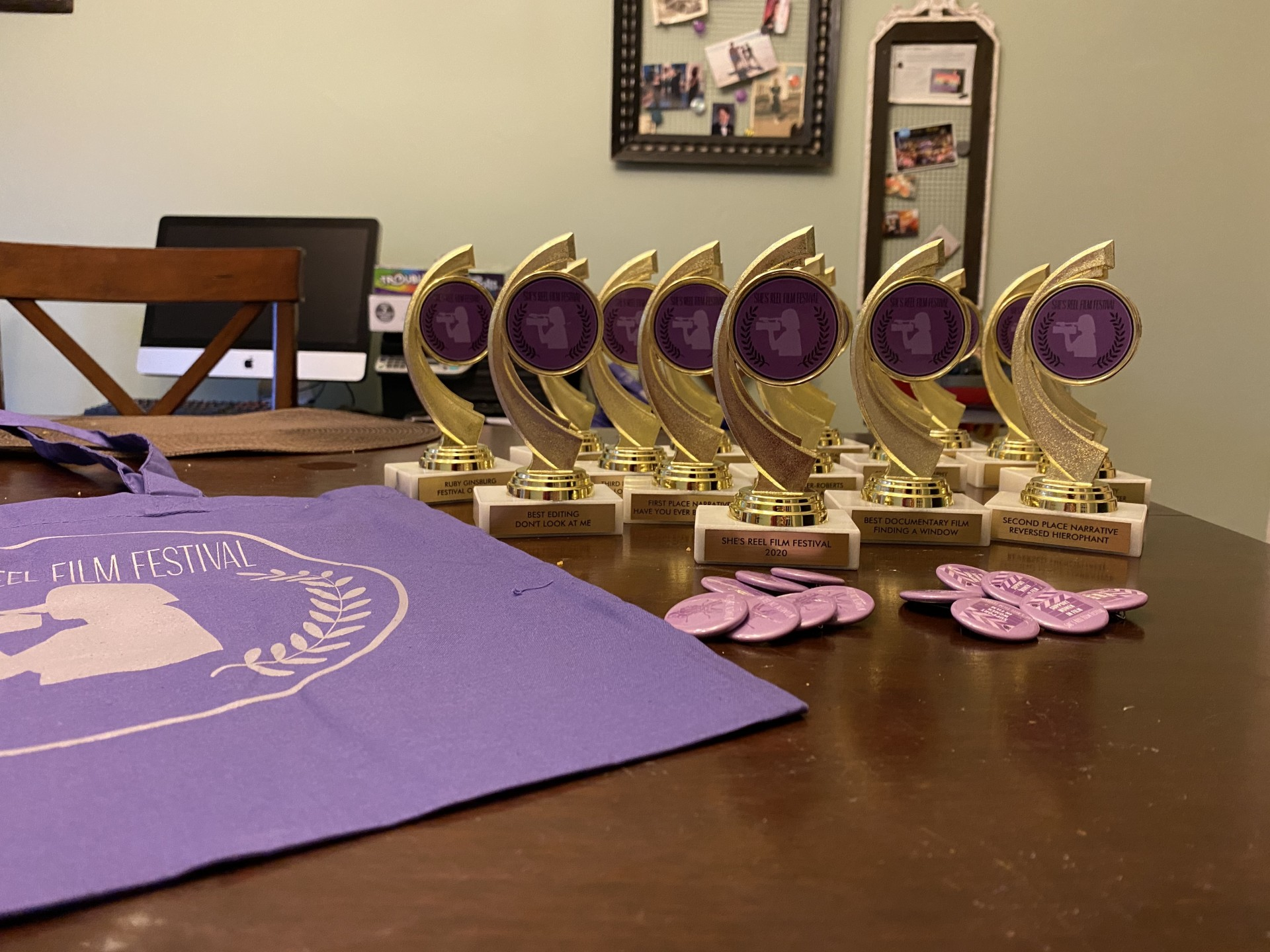 Trophies and gifts we made for all of our supporters