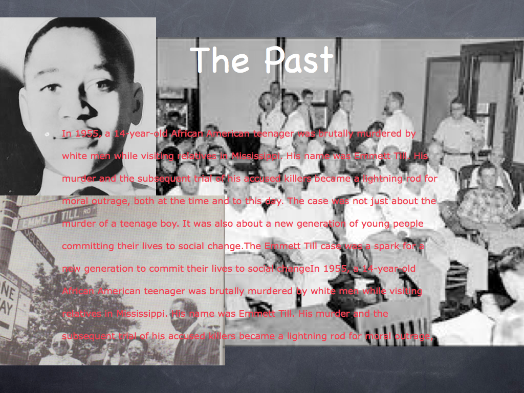the murder of emmit till essay The emmett till murder in song the death of emmett till was recorded by bob see phillip c kolin's essay, haunting america: emmett till in music and.