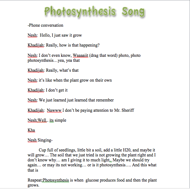 Photosynthesis song (Remix to Marvins Room) — Science Leadership ...